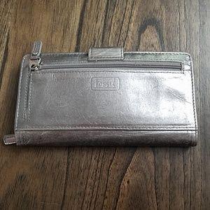 Fossil Silver Wallet